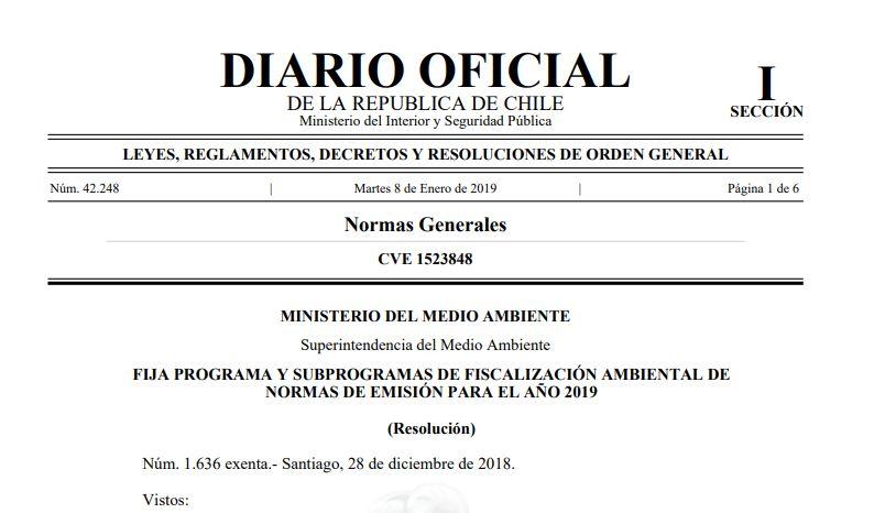 SMA informa sobre los programas y subprogramas de fiscalización ambiental 2019