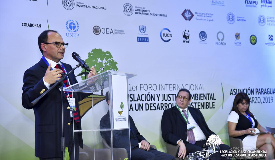 Superintendente participó en Paraguay del Primer Foro Internacional de Legislación y Justicia Ambiental