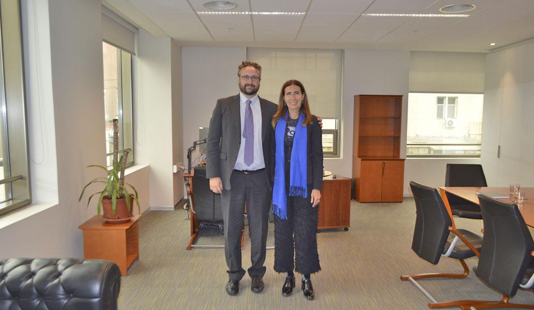 Ministra Carolina Schmidt visita al nuevo Superintendente