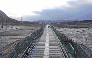 Foto de referencia de centro de cultivo de salmones